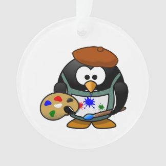 Dibujo animado del pingüino del pintor