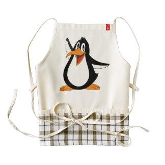 Dibujo animado del pingüino delantal zazzle HEART