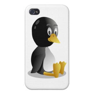 Dibujo animado del pingüino iPhone 4/4S fundas