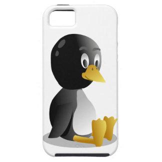 Dibujo animado del pingüino iPhone 5 fundas