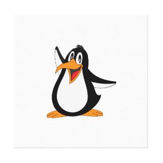 Dibujo animado del pingüino lona estirada galerías