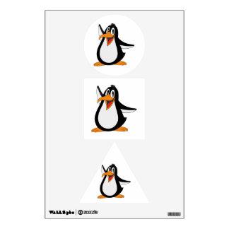 Dibujo animado del pingüino vinilo adhesivo