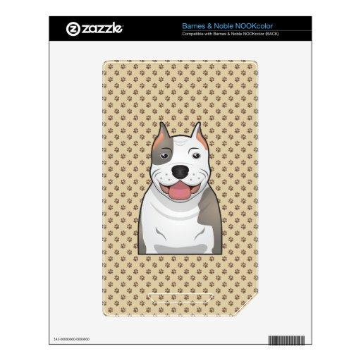 Dibujo animado del pitbull calcomanía para el NOOK color