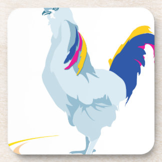 dibujo animado del pollo del gallo posavasos de bebida