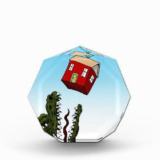 Dibujo animado del préstamo de hipoteca casera del