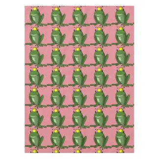 Dibujo animado del príncipe de la rana mantel de tela
