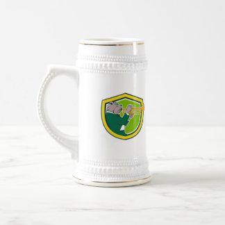 Dibujo animado del protección lateral de la jarra de cerveza
