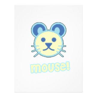Dibujo animado del ratón del bebé membretes personalizados
