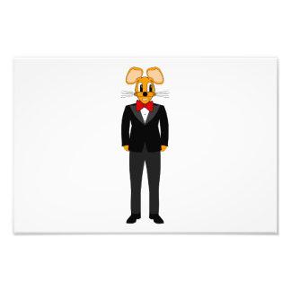 Dibujo animado del ratón del smoking impresiones fotograficas
