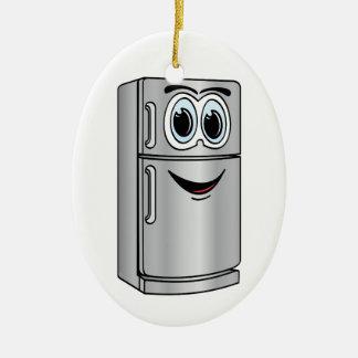 Dibujo animado del refrigerador del acero adorno navideño ovalado de cerámica