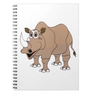 Dibujo animado del rinoceronte libretas
