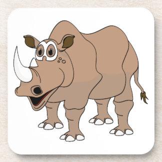 Dibujo animado del rinoceronte posavaso