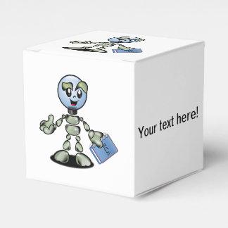 Dibujo animado del robot caja para regalo de boda