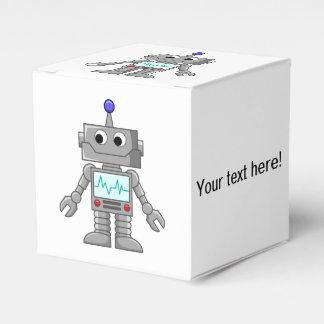 Dibujo animado del robot caja para regalos de fiestas