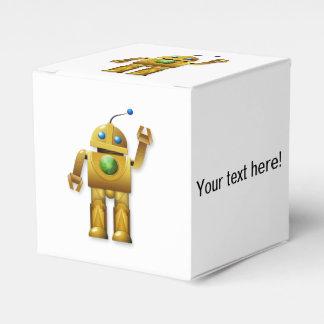 Dibujo animado del robot cajas para regalos