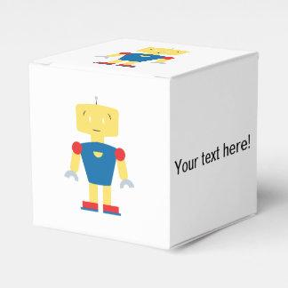 Dibujo animado del robot cajas para regalos de boda