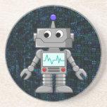 dibujo animado del robot posavasos diseño
