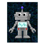 dibujo animado del robot postal