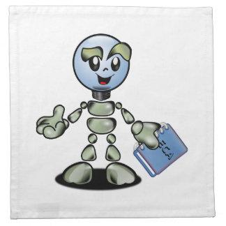 Dibujo animado del robot servilleta