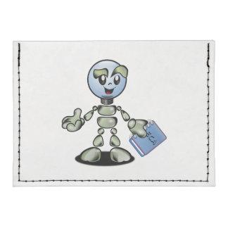 Dibujo animado del robot tarjeteros tyvek®