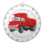 Dibujo animado del rojo del árbol del camión volqu tablero de dardos
