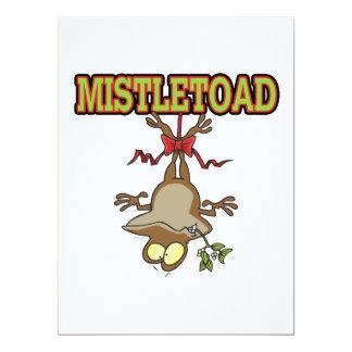 """Dibujo animado del sapo del muérdago de Mistletoad Invitación 6.5"""" X 8.75"""""""