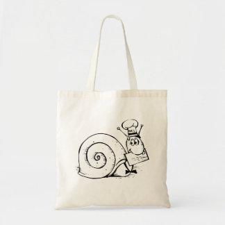 Dibujo animado del snail mail bolsas de mano