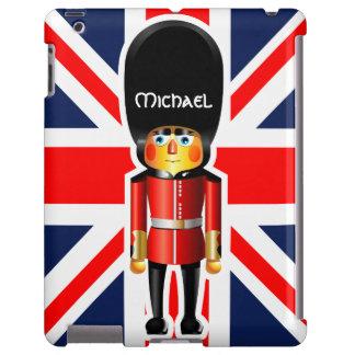 Dibujo animado del soldado del guardia de la reina funda para iPad