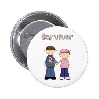 Dibujo animado del superviviente pin