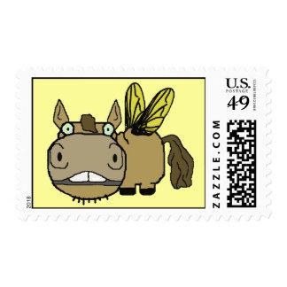 Dibujo animado del tábano del caballo de Schnozzle Sello