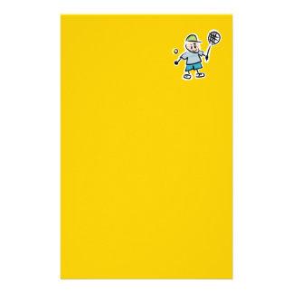 Dibujo animado del tenis inmóvil papeleria de diseño