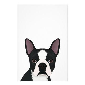 """dibujo animado del terrier de Boston Folleto 5.5"""" X 8.5"""""""