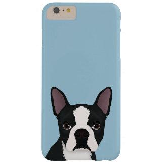 dibujo animado del terrier de Boston Funda De iPhone 6 Plus Barely There