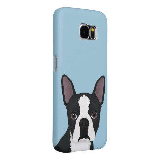 dibujo animado del terrier de Boston Fundas Samsung Galaxy S6