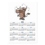 dibujo animado del toro tarjetas de visita grandes