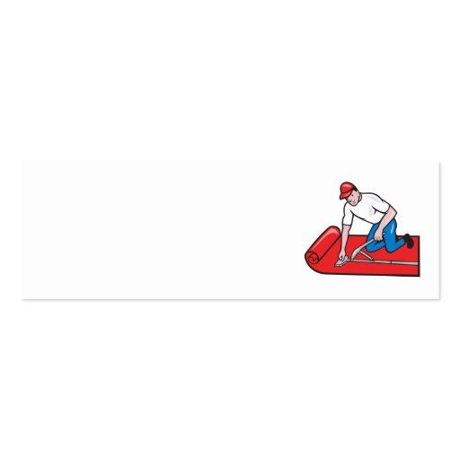 Dibujo animado del trabajador del ajustador de la tarjetas de visita mini
