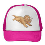 Dibujo animado del Triceratops Gorros Bordados