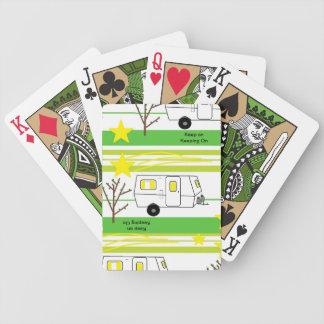 Dibujo animado del vehículo recreativo de la fibra baraja de cartas