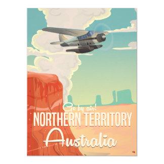 """dibujo animado del viaje de Australia del Invitación 6.5"""" X 8.75"""""""