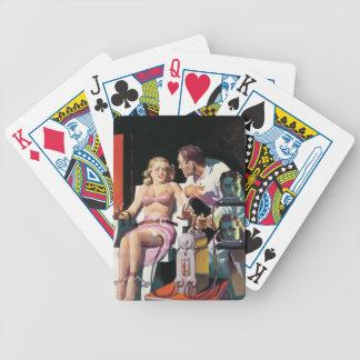 dibujo animado del vintage extraño barajas de cartas