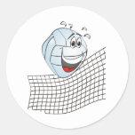 Dibujo animado del voleibol pegatina redonda