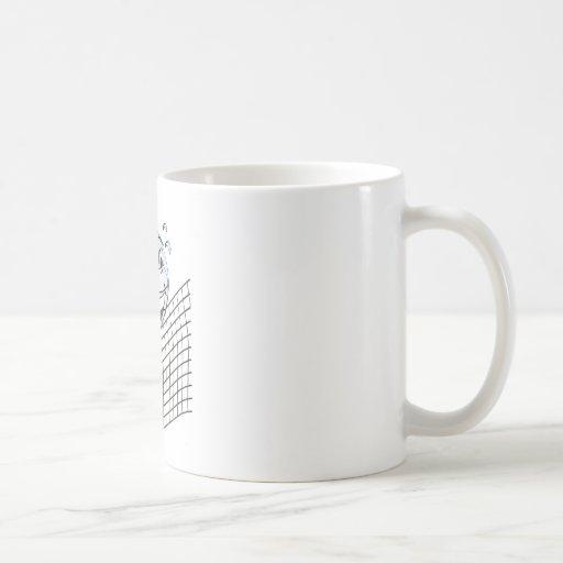 Dibujo animado del voleibol taza de café