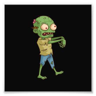 Dibujo animado del zombi fotografía
