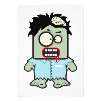 Dibujo animado del zombi comunicados personales