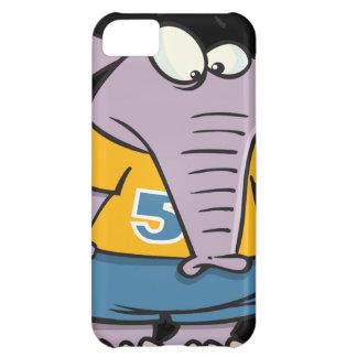 dibujo animado deportivo triste del elefante funda para iPhone 5C