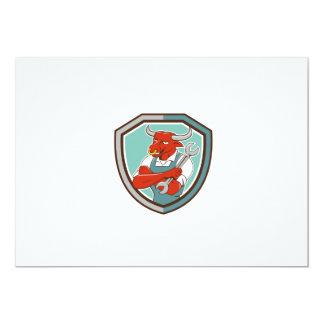 """Dibujo animado derecho del escudo de la llave invitación 5"""" x 7"""""""