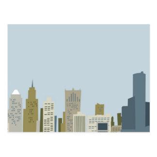 Dibujo animado Detroit Postales