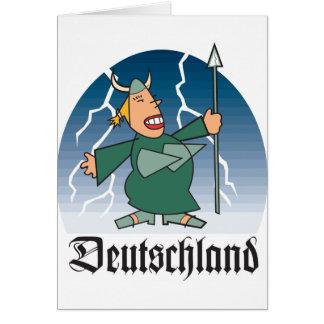 Dibujo animado Deustchland Tarjeta