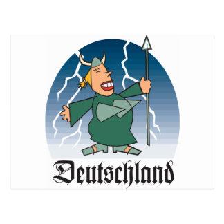 Dibujo animado Deustchland Postal
