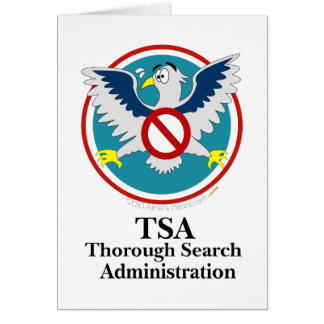 Dibujo animado divertido de Eagle TSA (toque mis d Tarjetas